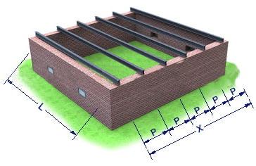 Межэтажное перекрытие металлическими балками